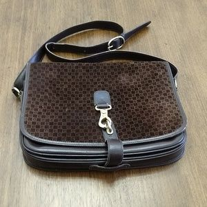 Gucci Bags - Vintage Gucci saddlebag in monogrammed suede Gucci